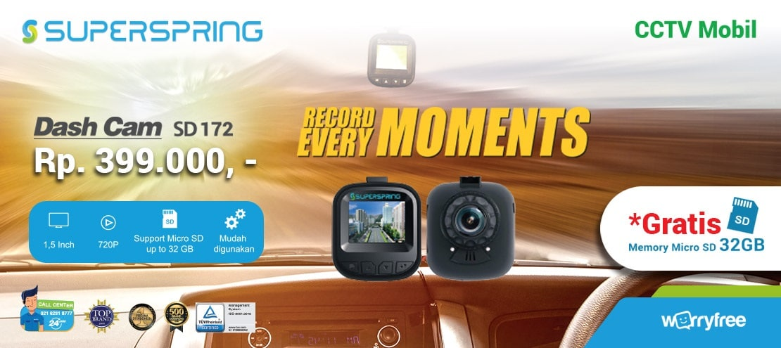 jual dashcam superspring sd172
